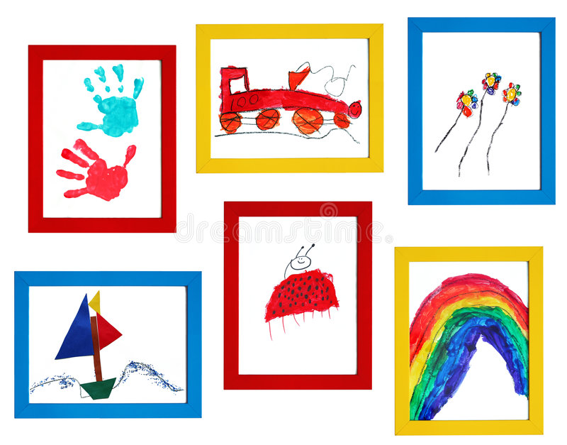 Arte da criança ilustração royalty free
