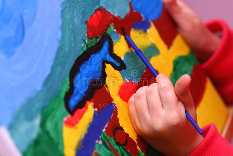 Arte da criança imagens de stock