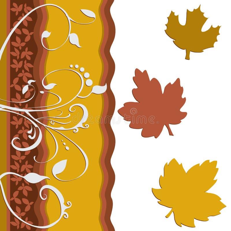 Arte da decoração da folha da folha ilustração do vetor