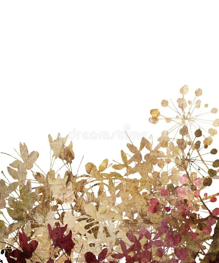 Arte da flor na textura de pedra isolada ilustração do vetor