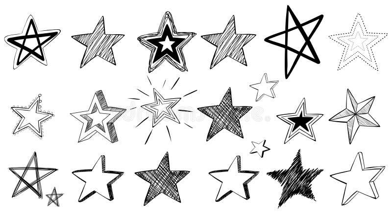 Arte da garatuja para estrelas ilustração stock
