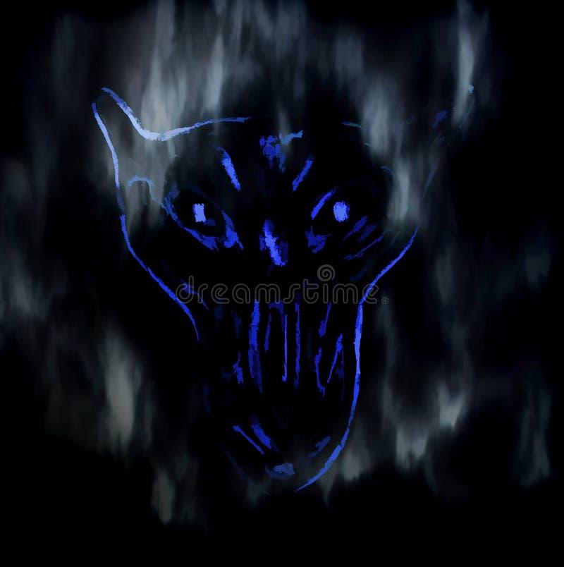 Arte da ilustração de Digitas do fantasma do lobo ilustração royalty free