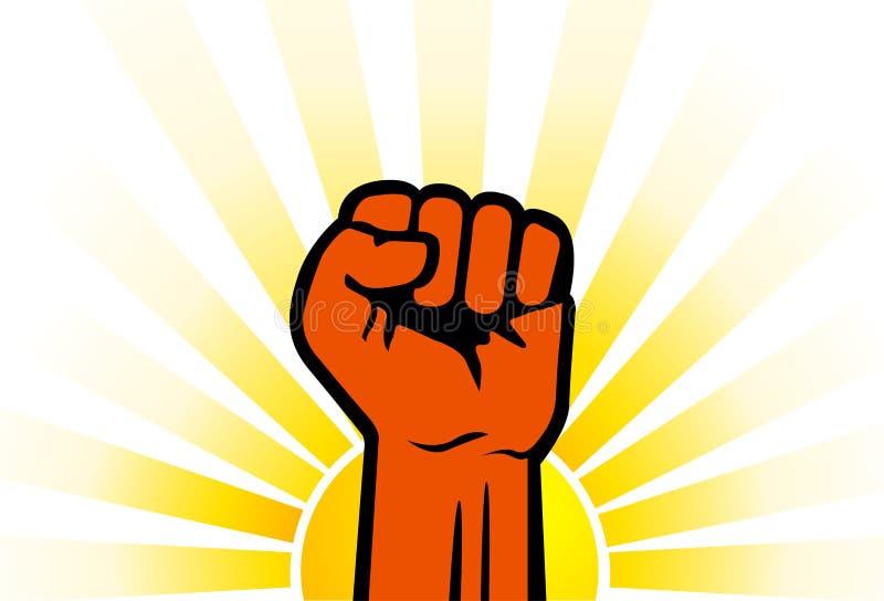 Mão do poder ilustração royalty free