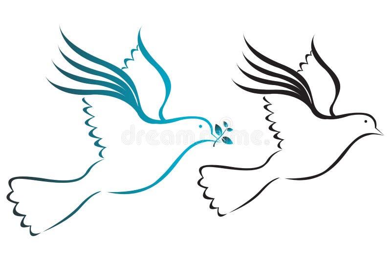 Pombas ilustração royalty free