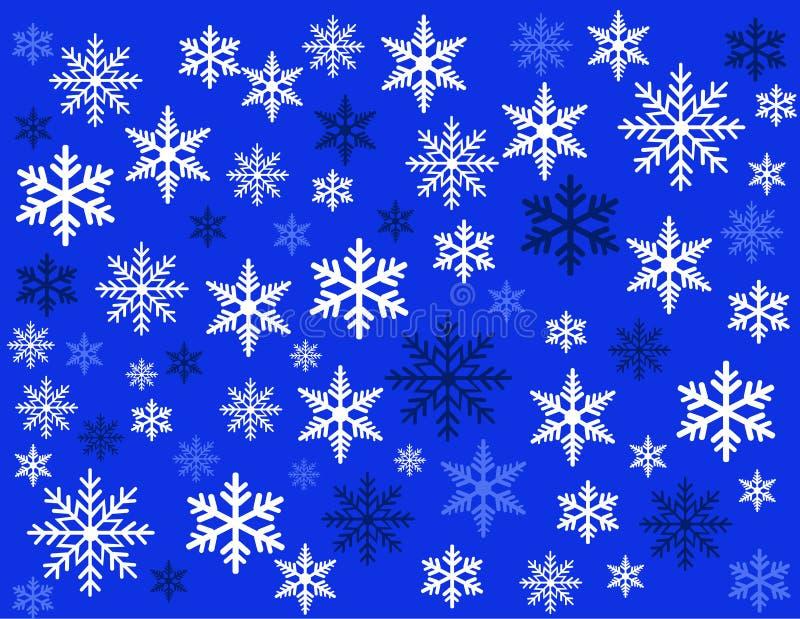 Arte da ilustração do vetor dos flocos de neve ilustração do vetor