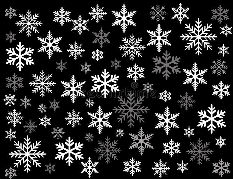 Arte da ilustração do vetor dos flocos de neve ilustração stock