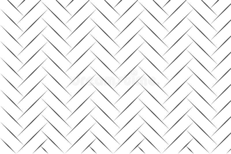 Arte da linha de heringbone preta abstrata na ilustração do vetor de fundo branco ilustração do vetor