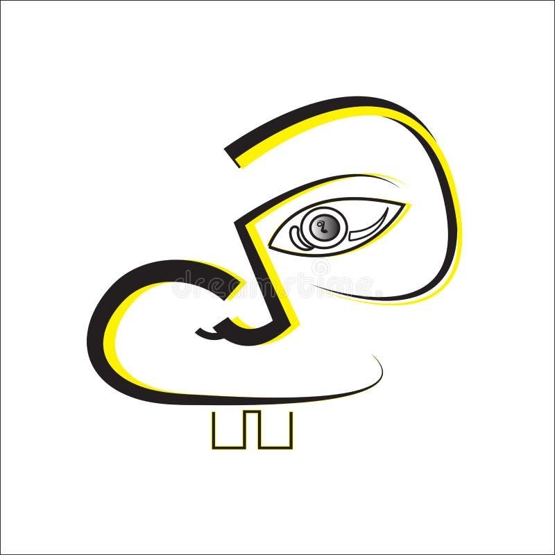 Arte da máscara protetora ilustração stock
