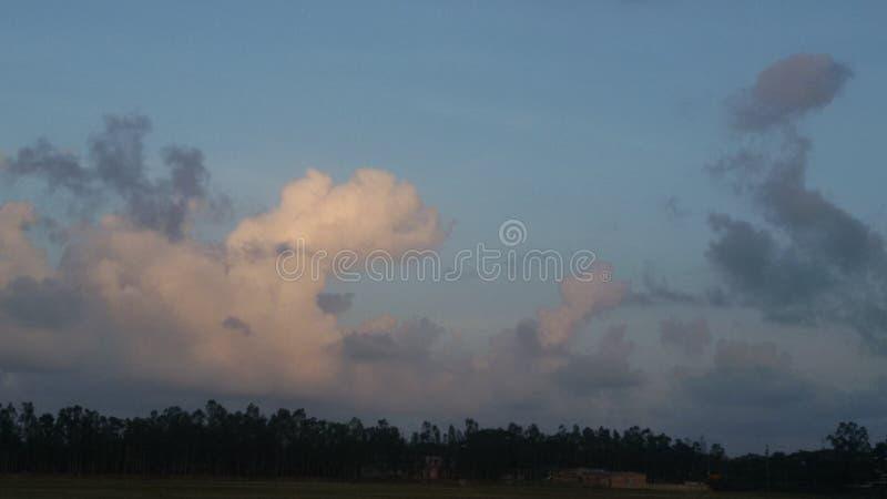 Arte da nuvem fotografia de stock