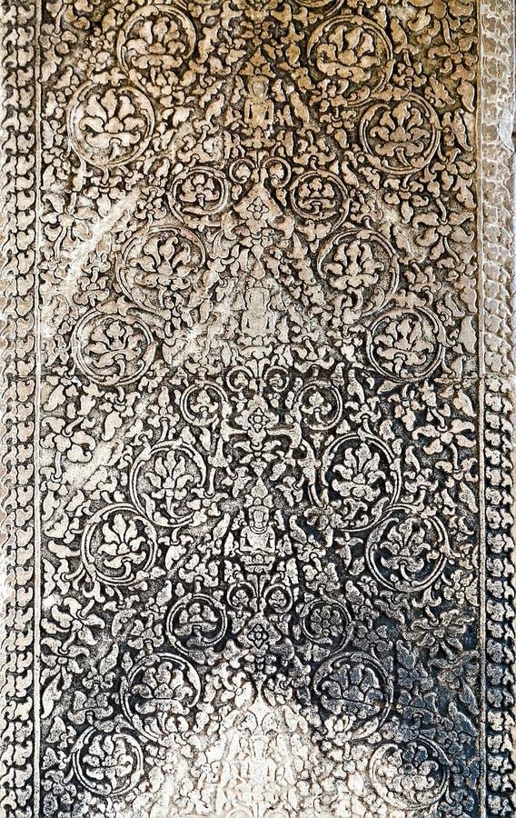 Arte da pedra hindu antiga Camboja do deus Khme antigo fotografia de stock