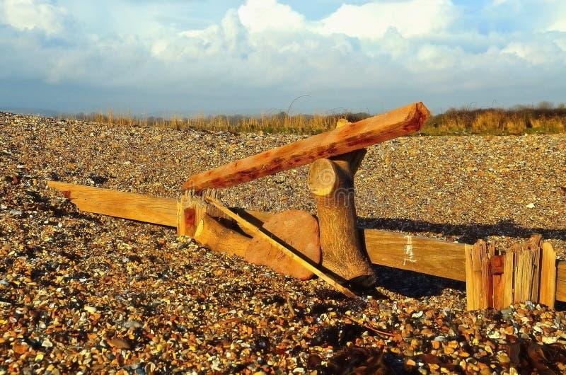 Arte da praia fotografia de stock