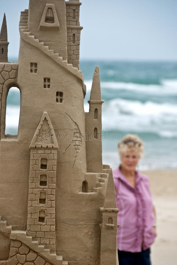 Arte da praia e um visor imagem de stock royalty free