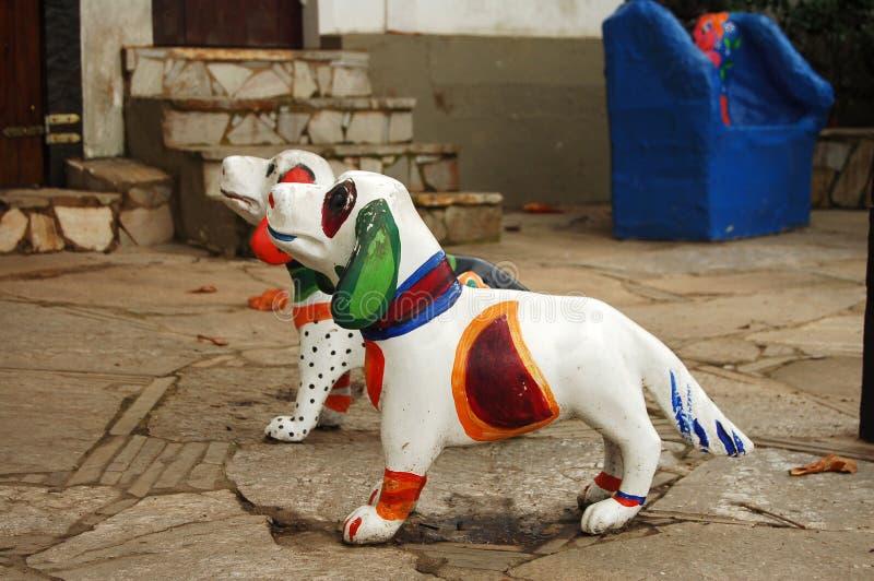 Arte da rua - cães imagens de stock