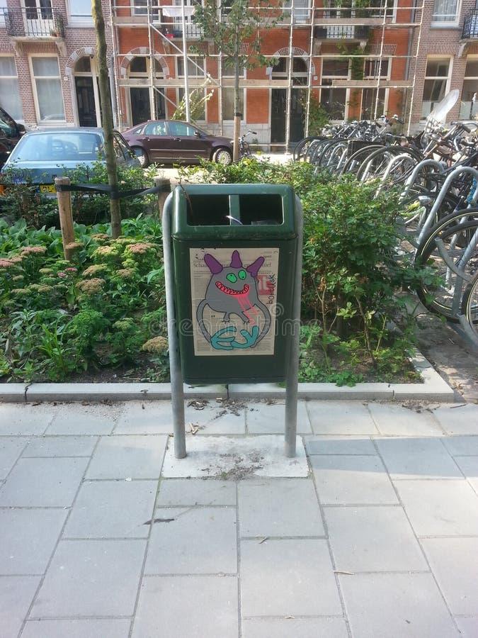 Arte da rua de Amsterdão fotografia de stock