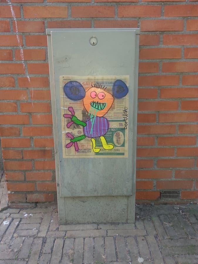 Arte da rua de Amsterdão imagem de stock