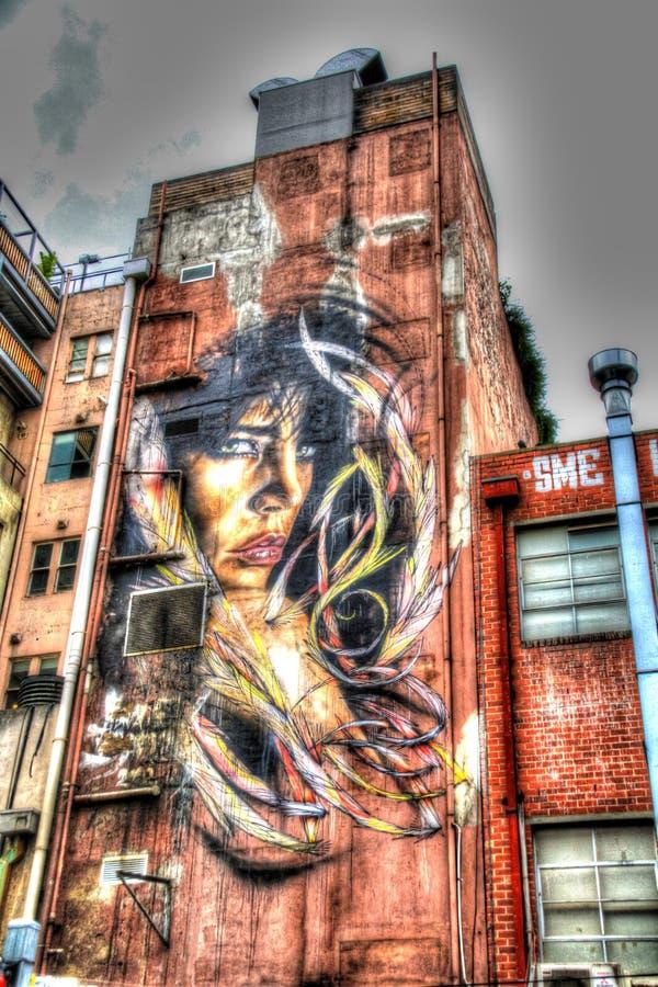Arte da rua de Inspirative em Melbourne, Victoria, Austrália imagens de stock royalty free