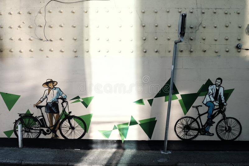 Arte da rua do ciclismo fotos de stock royalty free