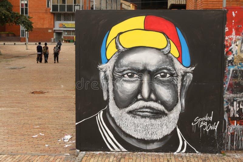 Arte da rua em Bogotá, Colômbia fotografia de stock royalty free