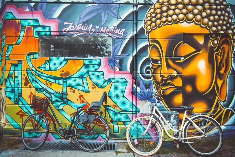 Arte da rua em Copenhaga fotos de stock royalty free