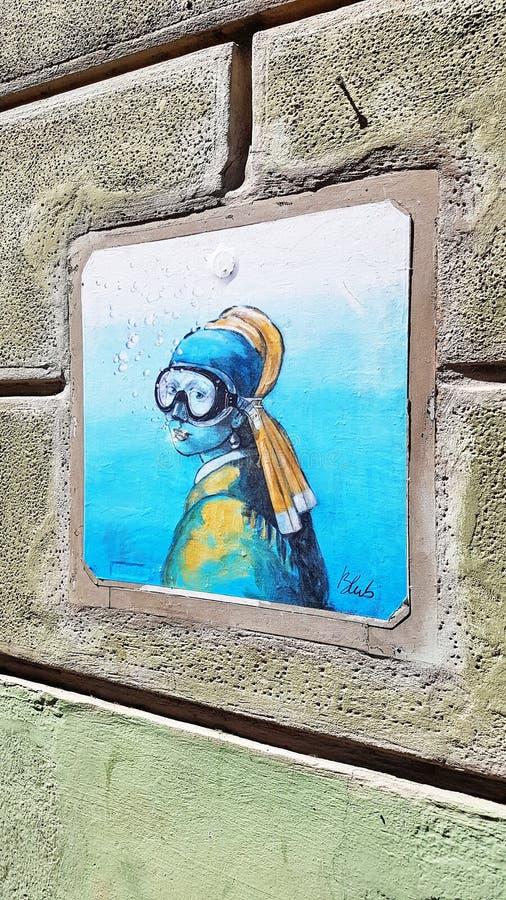 Arte da rua em Florença, Italy imagem de stock royalty free