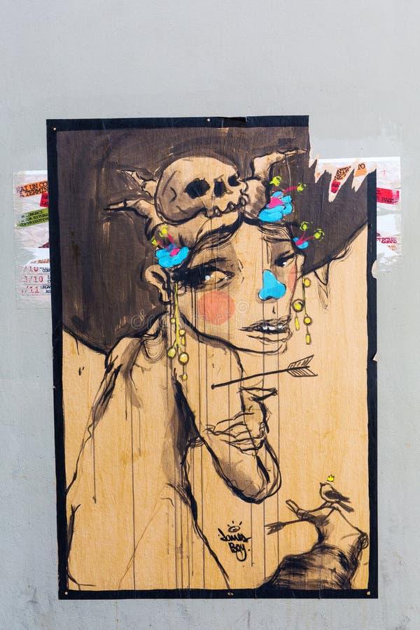 Arte da rua em Florença, Italy fotos de stock royalty free