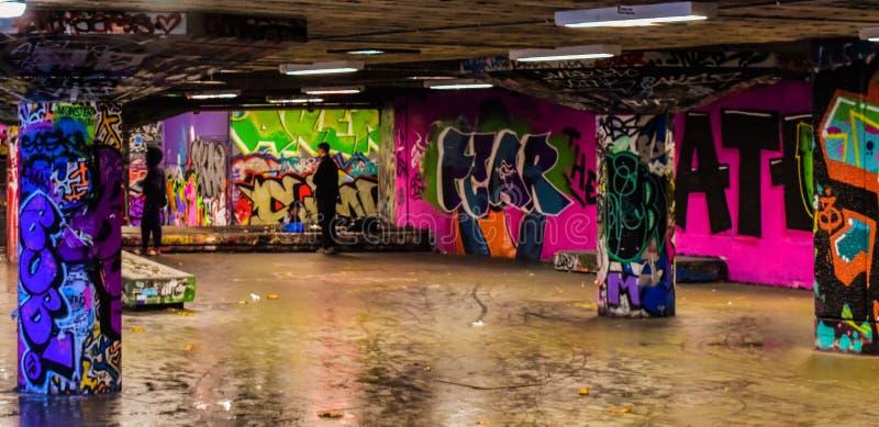 Arte da rua em Londres fotografia de stock