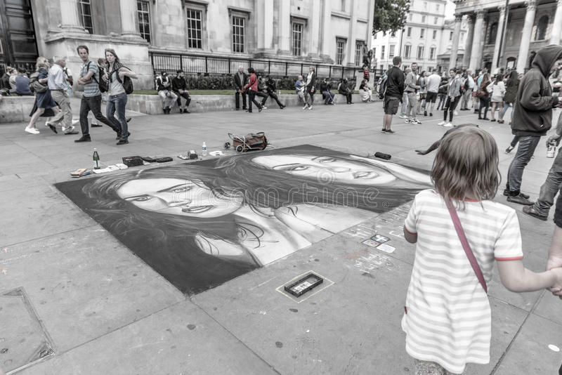 Arte da rua em Londres foto de stock royalty free