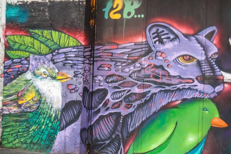 Arte da rua no Chile fotografia de stock