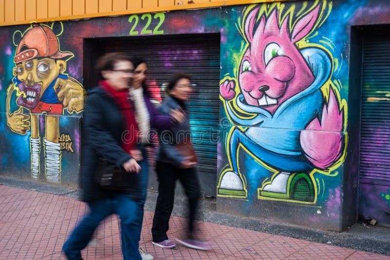 Arte da rua no Chile fotos de stock