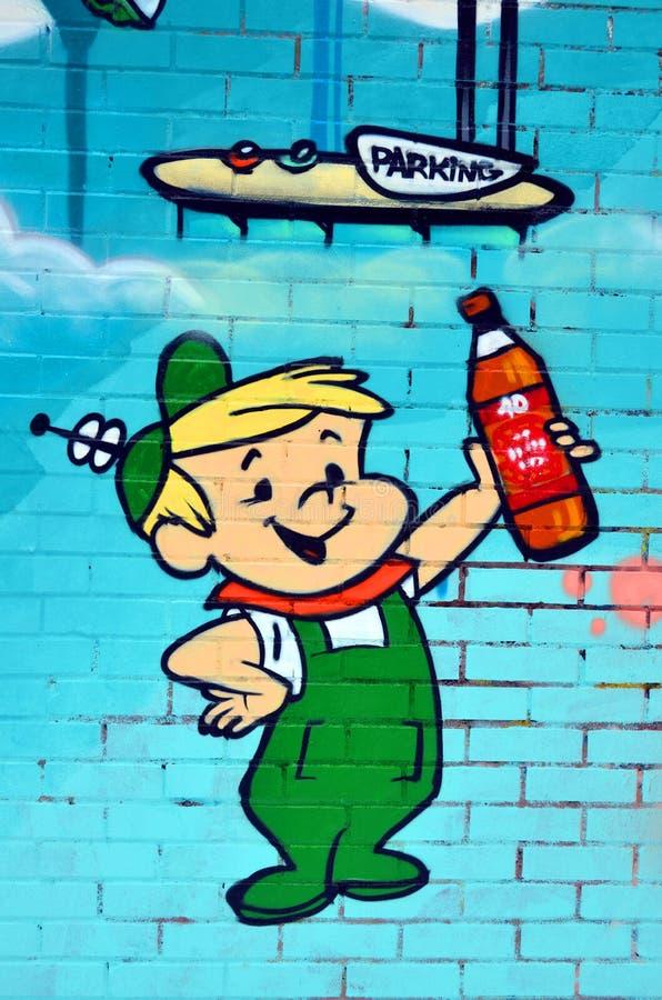 Arte da rua o Jetsons ilustração do vetor