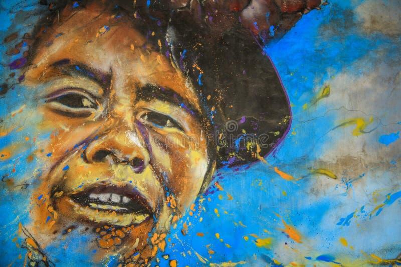 Arte da rua, Valparaiso, o Chile imagens de stock