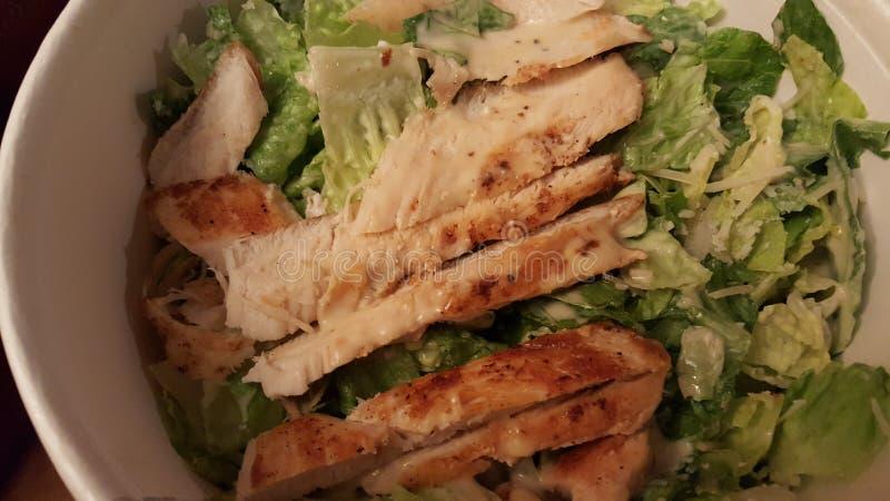 Arte da salada de Caesar da galinha imagens de stock royalty free