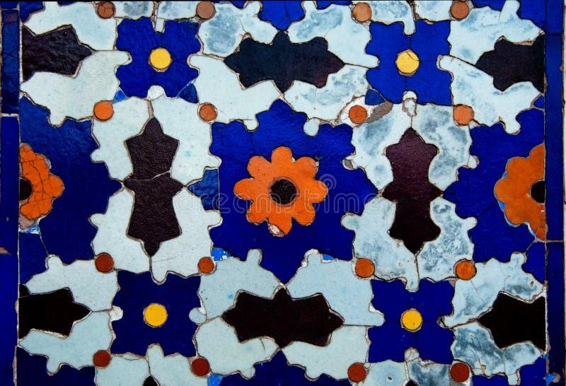 Arte da telha de mosaico de Clorful da era de Mughal foto de stock royalty free