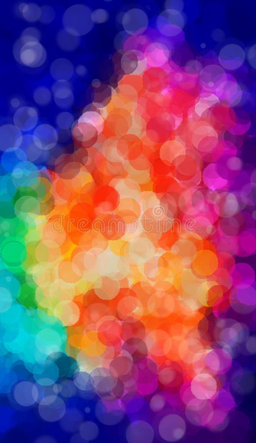 Arte da tesoura do teste padrão do arco-íris do pecado do às bolinhas ilustração do vetor