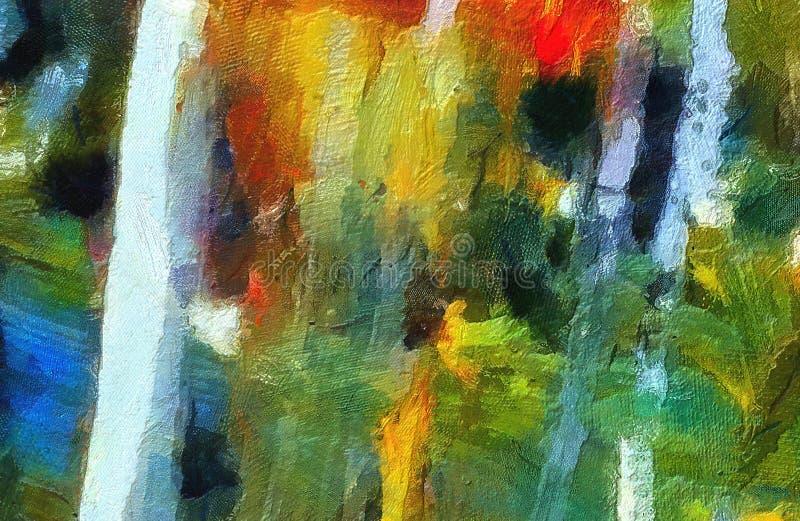 Arte da textura do sumário da mistura da cor da impressão Backg brilhante artístico ilustração do vetor