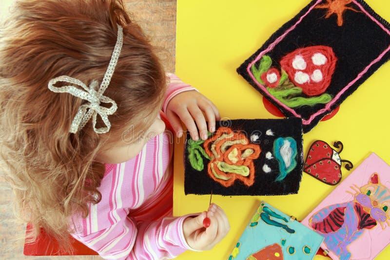 Arte das crianças foto de stock