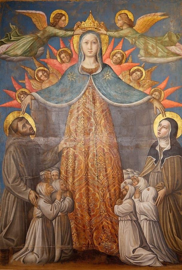Arte de Assisi, Úmbria, Itália fotos de stock