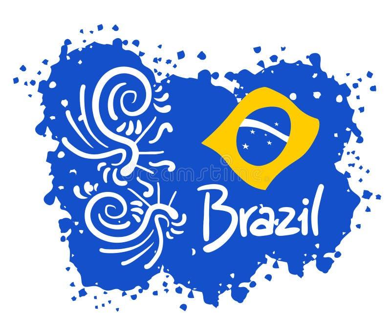 Arte de Brasil ilustração stock