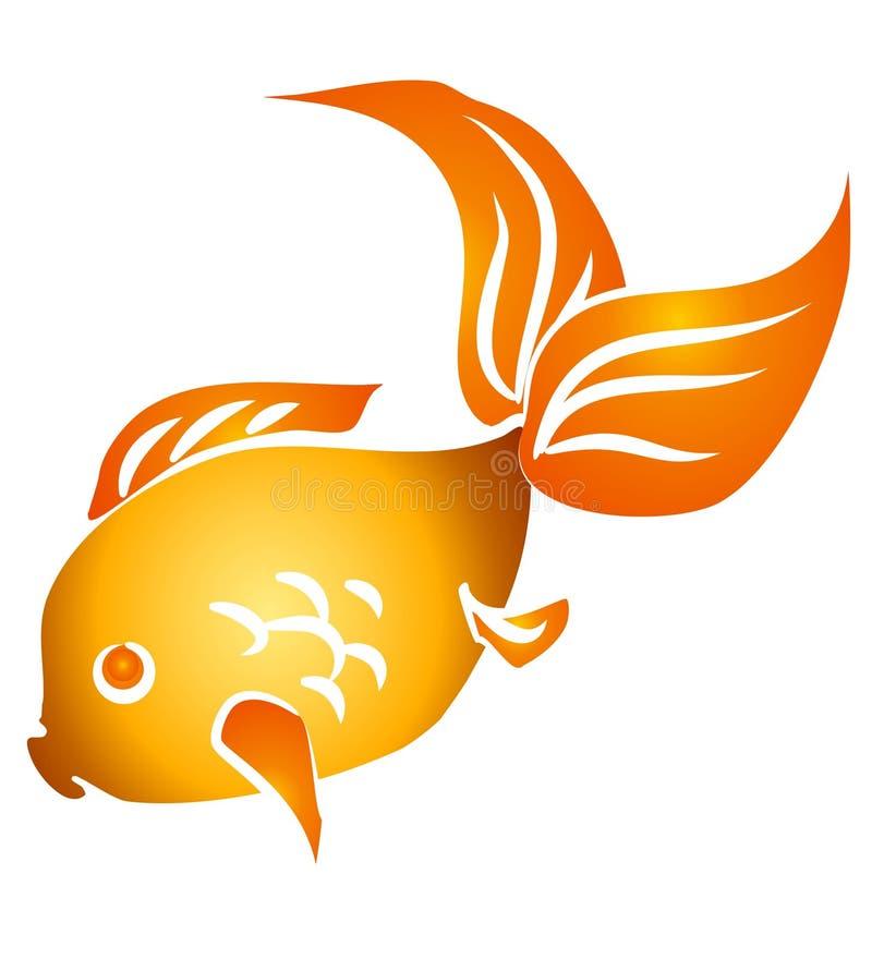 Arte de clip aislado del Goldfish stock de ilustración