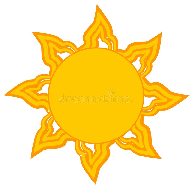 Arte de clip amarillo brillante de Sun libre illustration