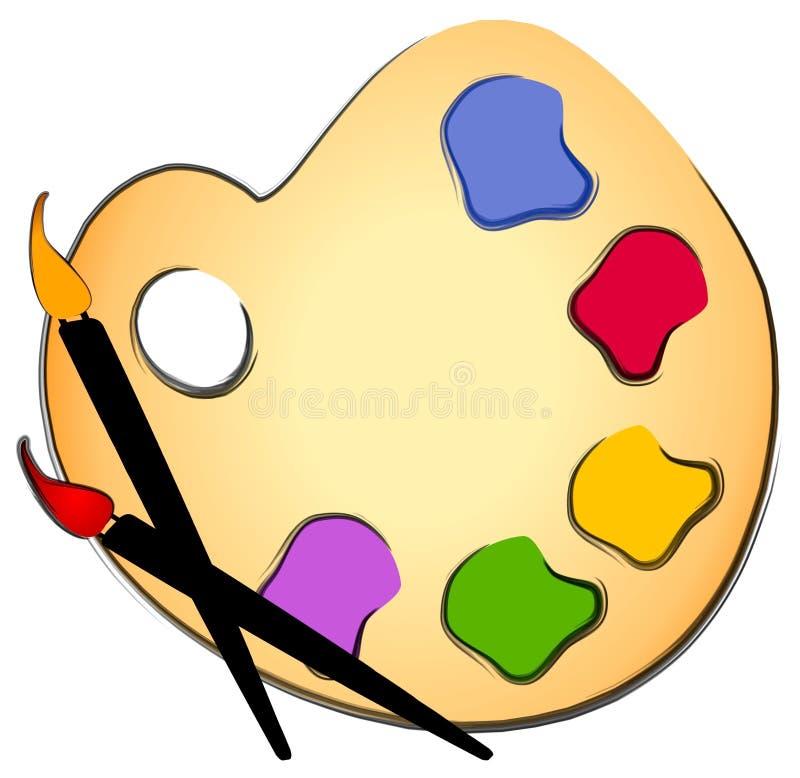 Arte de clip de la brocha y de la paleta ilustración del vector