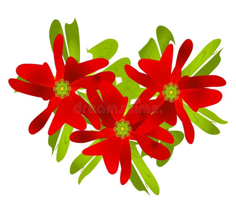Arte de clip del Poinsettia de la Navidad ilustración del vector