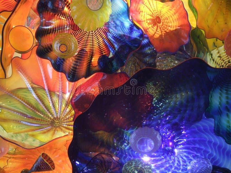 Arte de cristal colorido de Chihuly fotos de archivo