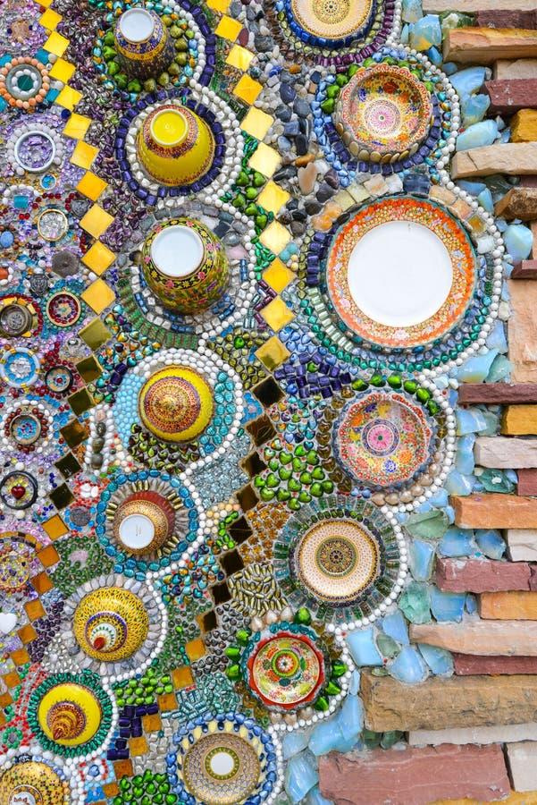 Arte de cristal colorido del mosaico, fondo abstracto de la pared fotos de archivo libres de regalías