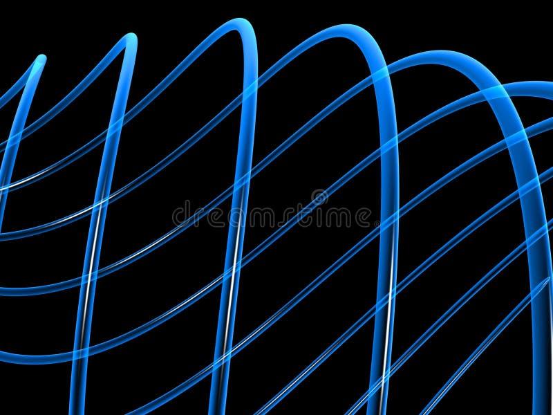 Arte de fibras azules ilustración del vector