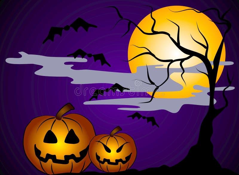Arte de grampo 2 das abóboras de Halloween ilustração royalty free