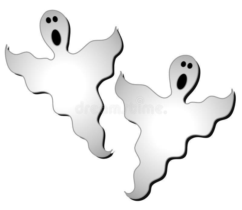 Arte de grampo 2 dos fantasmas de Halloween ilustração do vetor