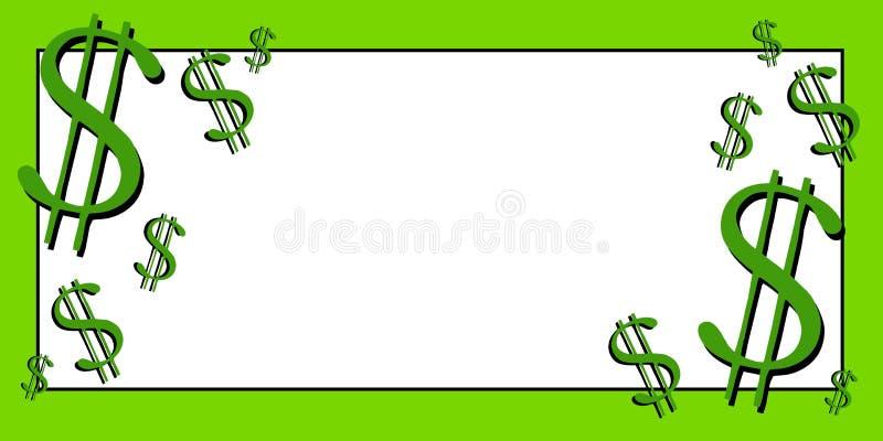 Arte de grampo 3 do dinheiro dos sinais de dólar ilustração royalty free