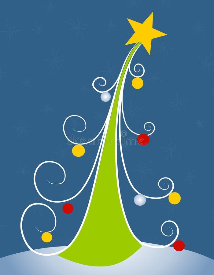 Arte de grampo abstrata 2 da árvore de Natal ilustração stock