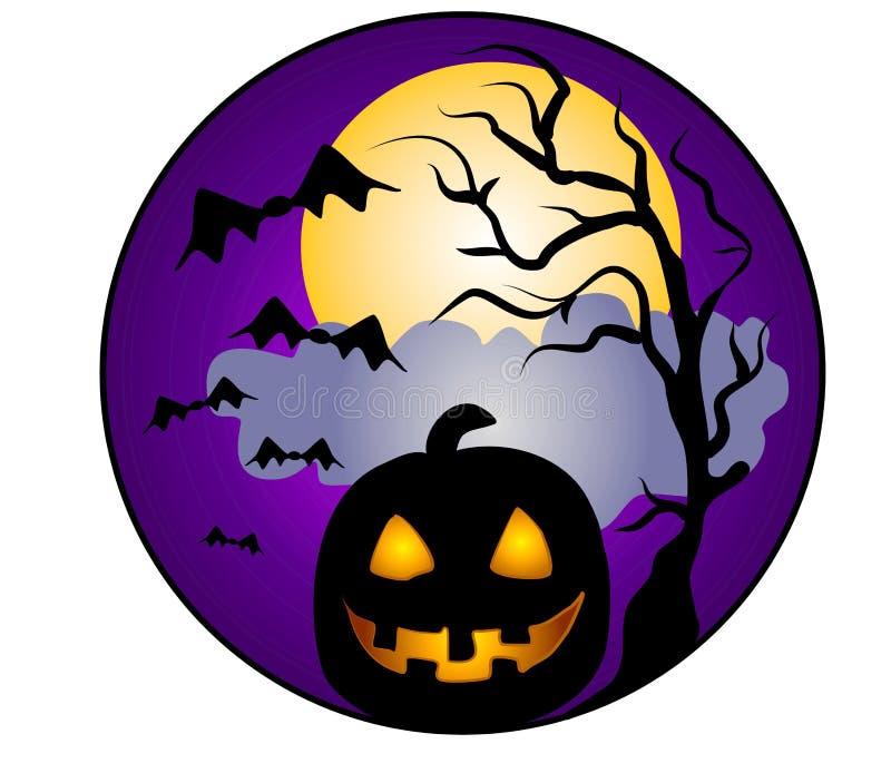 Arte de grampo da abóbora de Halloween ilustração royalty free